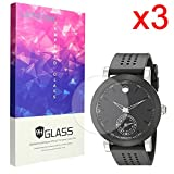 Lamshaw 9H Tempered Glass Screen Protector for Movado Men's 0660003 Swiss Quartz Black Smartwatch (3 pack)