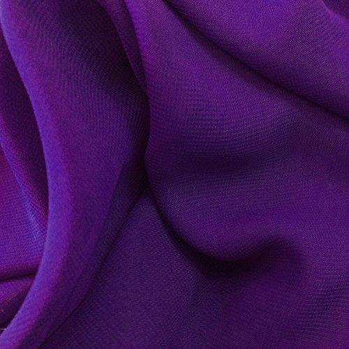Solid Sheer Chiffon Fabric Polyester Dress 58 Inch Wide- Fabric by the (Chiffon Twist Dress)