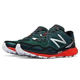 New Balance Men\'s MT910V3 M Trail Running Shoes, Green/Red, 9 4E US