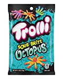 Trolli Sour Brite Octopus, 6.3 Ounce Peg Bag (Pack of 8) Sour Gummy Candy