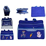 Glitter Collection Multi-Purpose Bag With Bottle Case - Blue