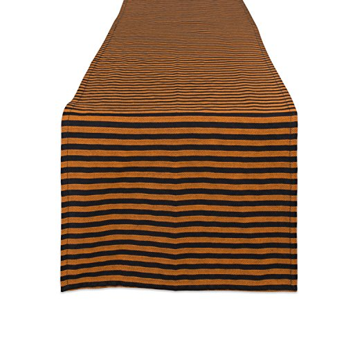 DII CAMZ10896 Cotton Table Runner, Perfect for Halloween, Dinner Parties and Scary Movie Nights 14 x 108 Witchy Stripe