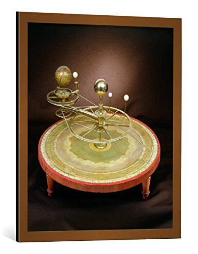 kunst für alle Framed Art Print: English School Orrery Made by Newton Co London Early 19th Century - Decorative Fine Art Poster, Picture with Frame, 25.6x29.5 inch / 65x75 cm, Copper Brushed