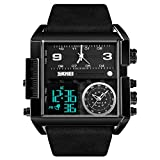 Best SKMEI Man Watches - SKMEI Men's Digital Sports Watch, LED Square Large Review