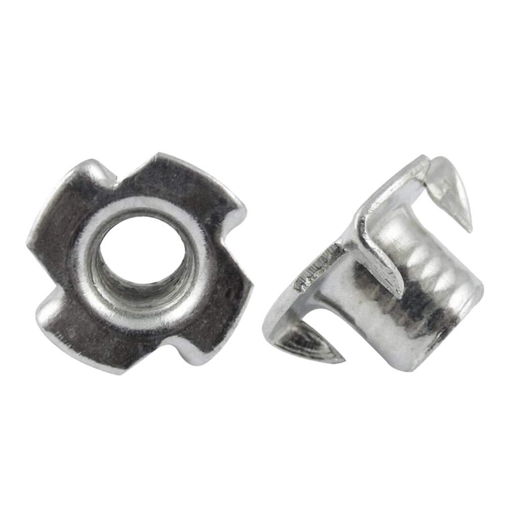 Innendurchmesser 5 mm Set Einschlagmuttern Verzinkt f/ür Blech und Holz Holzmuttern P Prettyia 50pcs