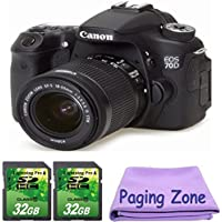 Canon EOS 70D DSLR Camera with 18-55mm IS STM Lens