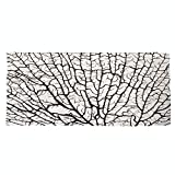 iPrint Large Cotton Microfiber Beach Towel,Old Forest Decor,Cracked Curly Coral Branch Like Earth Surface Tree of Life Nature Woods Theme,Beige,for Kids, Teens, and Adults
