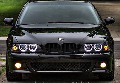 2x Blanc LED Angel Eye Halo Anneau Phare Lumi/ère du jour ampoule pour E39 E60 E61 E87 E53 E63 E65