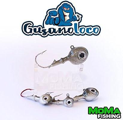 MoMa Fishing - Gusano Loco 3x Cabezas Jig 3,5g (1/8oz) - Cabeza ...