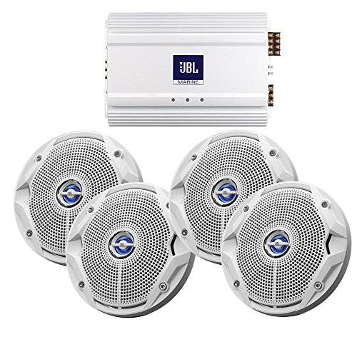 """Price comparison product image Jbl Ms6520 Speakers & Ma6004 Amp Package - (4) 6.5"""" Speakers & (1) 4-Channel Amp Watts = NONE ; Waterproof Rating = NON"""