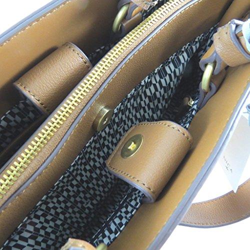 """Nica [N9122] - Sac créateur """"Nica"""" marron chataigne (2 compartiments) - 35x27x15. 5 cm"""