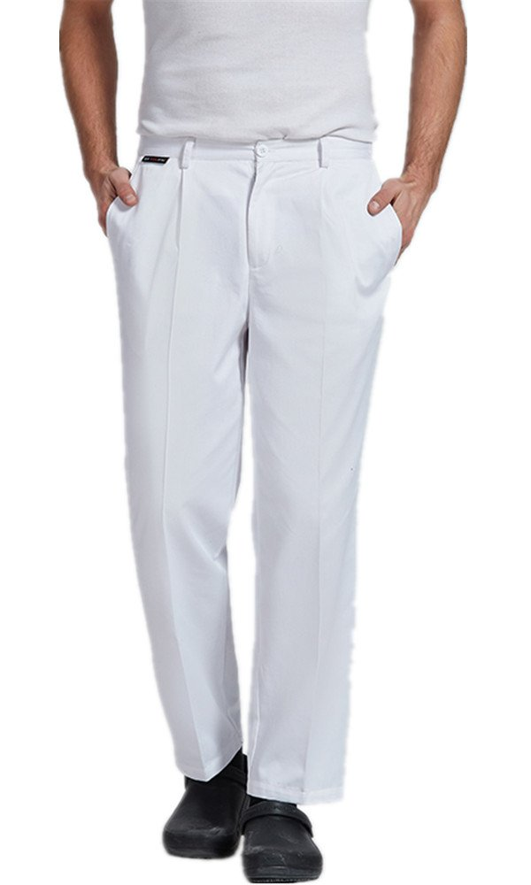 XinAndy High End Unisex White Grandmaster Chef Pants by XinAndy Chef