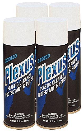 Plexus 20207-4PK Plastic Cleaner and Polish Aerosol, 7 fl. oz., 4 Pack