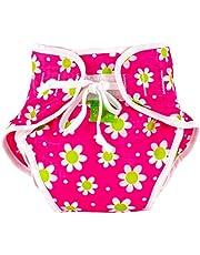 Kushies Baby Unisex Swim Diaper - X-Large,Fuchsia Daisy Print,X-Large,