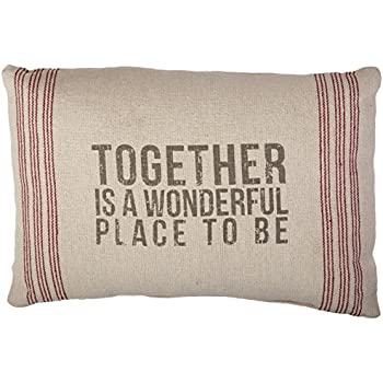 Primitives by Kathy 9-Stripe Together Pillow, 14.5-Inch by 10-Inch
