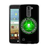 LG K7 Case, Snap On Cover by Trek Zombie OutBreak Response Team Green on Black Slim Case