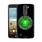 LG K7 Case, Snap On Cover by Trek Zombie OutBreak Response Team Green on Black Slim Case