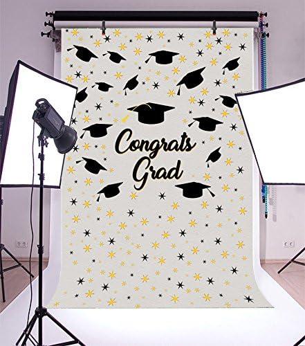 AOFOTO 3x5ft Graduation Backdrop Congrats Grad Cap Party Decor Photography Background Abstract Stars Celebration Photo Studio Props College School Ceremony Commencement Student Education Photobooth