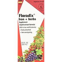 Flora Floradix Iron + Herbs - Liquid Extract Formula 8.5 fl.oz