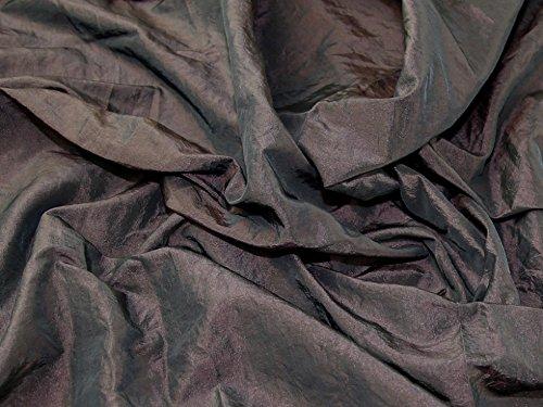 Crushed Textured Shot Taffeta Dress Fabric Dark Brown - per metre