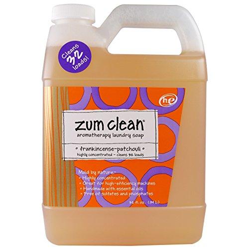 Indigo Wild Zum Clean Laundry Soap, Frankincense & Patchouli, 32 Fluid Ounce (Best Detergent For Good Smelling Clothes)