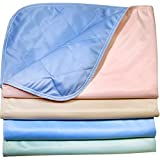 Pack of 4 - Reusable Stain Resistant Quick Absorbent / Washable Large Dog / Puppy Training Travel Pee Pads - Size 24 x 36