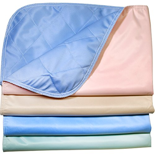 Pack of 4 – Reusable Stain Resistant Quick Absorbent / Washable Large Dog / Puppy Training Travel Pee Pads – Size 24 x 36