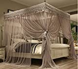 Mengersi 4 Corners Post Canopy Bed Curtains Bed