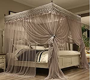 Mengersi princess 4 corners post bed canopy - Canopy bed ideas for adults ...