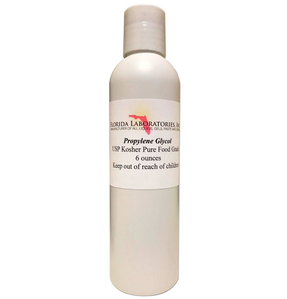 One Bottle 6 oz of Propylene Glycol USP PG Kosher 99.9% Pure Food Grade