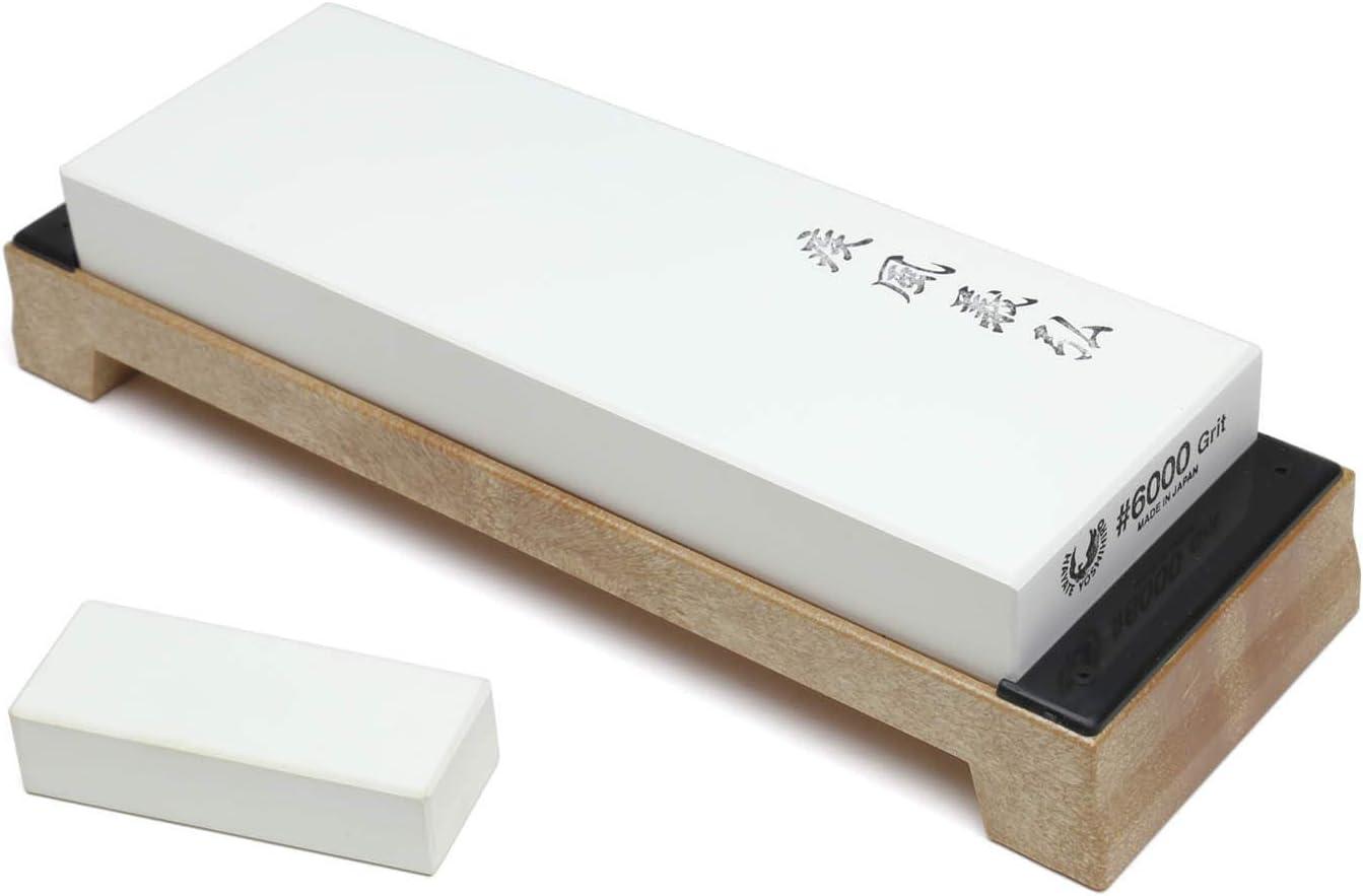 Yoshihiro Professional Grade Toishi Japanese Whetstone Knife Sharpener Water Stones (#6000 grit)