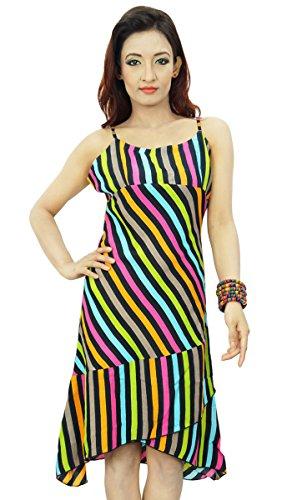 Sommer Abnutzungs Kleid Isolationsschlauch Bügel Rayon Stoff Tunika ...