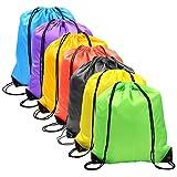 7 Colors Drawstring Bag Sack Pack Cinch Tote Kids Adults Storage Bag