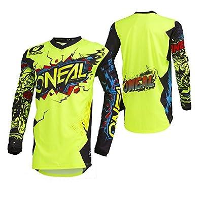 O'Neal 001E-904  Men's Element Villain Jersey (Neon Yellow, Large): Automotive