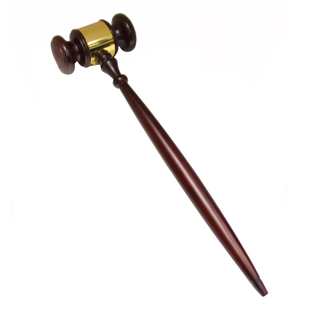 Jumbo Rosewood Gavel with Band by Awards and Gifts R Us