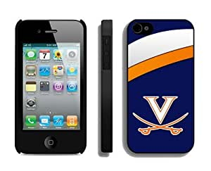 linJUN FENGSports Design Iphone 4/4s Case Ncaa Virginia Cavaliers 3 Phone Shell Cover