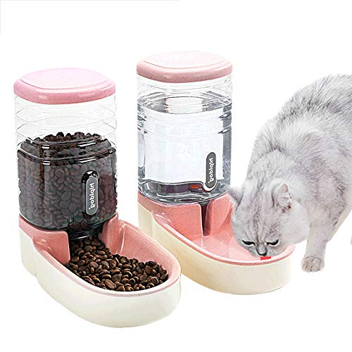 - Fairy Tale Automatic Pet Feeder Small&Medium Pets Automatic Food Feeder and Waterer Set 3.8L, Travel Supply Feeder and Water Dispenser for Dogs Cats Pets Animals (Light Pink)