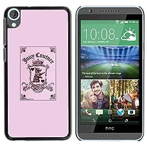 TopCaseStore / la caja del caucho duro de la cubierta de protección de la piel - Joker Card Poker Puppy Pink - HTC Desire 820