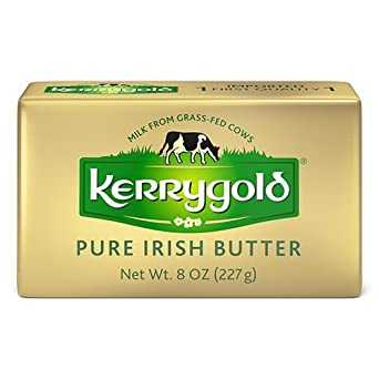 Kerrygold Pure Irish Butter Salted, 8 Ounce all-natural Butter Made with Milk from Grass-Fed Cows