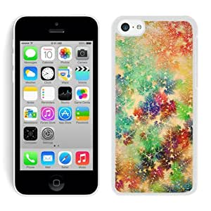 Personalization Colorful Iphone 5C TPU Case Christmas Snowflake White iPhone 5C Case 1