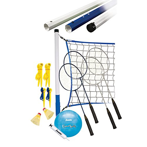 Franklin Sports Recreational Badminton and Volleyball Combo Set by Franklin Sports