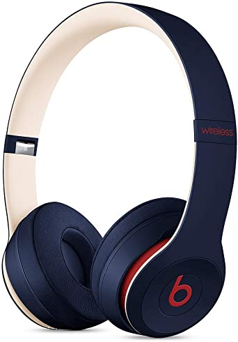 Amazon Com Beats Solo3 Wireless On Ear Headphones Apple W1 Headphone Chip Class 1 Bluetooth 40 Hours Of Listening Time Club Navy Latest Model