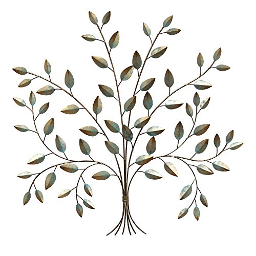 Stratton Home Decor S07692 Tree of Life Wall Decor, 24.00 W x 0.50 D x 24.00 H, Patina (Wall Hanging Tree Metal)