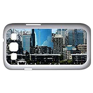 Sydney's Darling Harbour Australia - Watercolor style - Case Cover For Samsung Galaxy S3 i9300 (White)