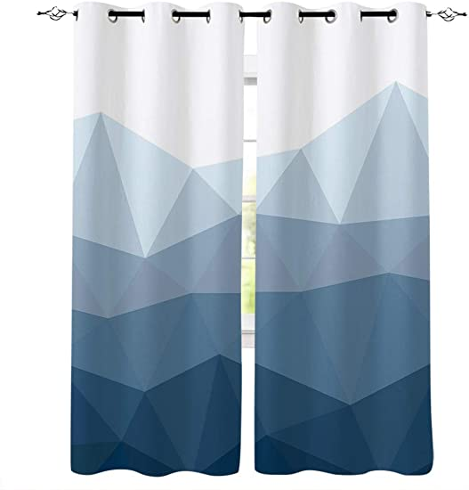 wanxinfu 2 Panel Kitchen Cafe Curtain
