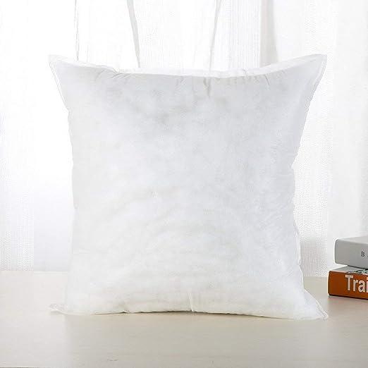 Kitechildhood - Cojín de algodón con Relleno de Felpa, 45 x 45 cm, 250 g, 45 x 45 cm, Color Blanco: Amazon.es: Hogar