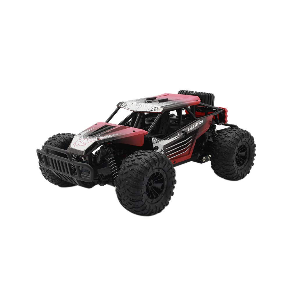 Red Suspension Off Road Vehicle Crawler Piebo Remote Control RC Cars 1 18 2.4G 20km H High Speed Monster Truck Electronic Toy Car for Adults and Kids (red)