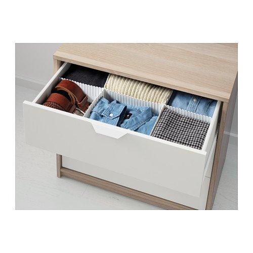 【IKEA/イケア】ASKVOLL チェスト(引き出し×3), ホワイトステインオーク調, ホワイト B00ZF3PVCE