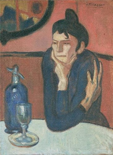 'The Absinthe Drinker,1901 By Pablo Picasso' Oil Painting, 12x16 Inch