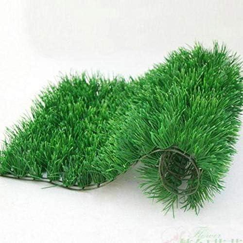 GAPING 暗号化人工芝、人工芝敷石、20 Mmパイルの高さ、3色あり、屋内と屋外の風景の装飾に適しています (Color : Dark green, Size : 2x1.5m)